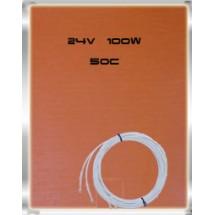 Гибкая нагревающая пластина 100Вт, (24В),  размер 127mm х 152mm, термостат на 50°С.  Область применения прогрев масла, топлива, гидравлики и других жидкостей